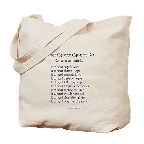 CafePress What Cancer Cannot Do Inspirational Cancer Poem To Natural Canvas Tote Bag, Cloth Shopping Bag