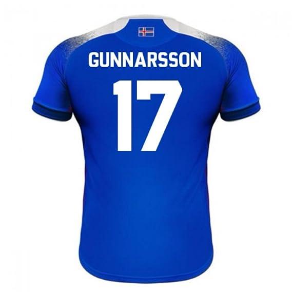 2018-2019 Iceland Home Errea Football Soccer T-Shirt Camiseta (Aron Gunnarsson 17): Amazon.es: Deportes y aire libre