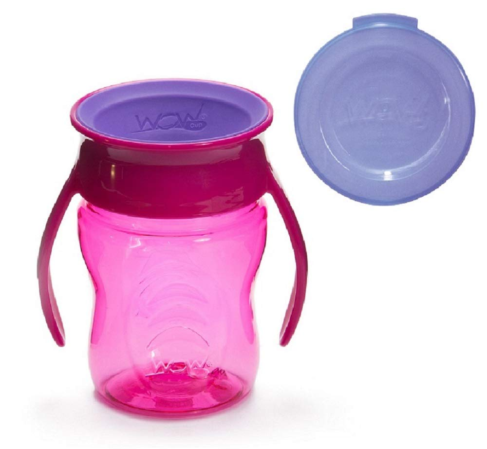 Wow Cup Baby TRITAN 360⁰ Spill-Free with Handles, 7 fl. Oz, Green 00134