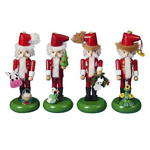 Steinbach 12 Day Of Christmas - Kurt Adler Steinbach 12 Days of Christmas Nutcracker Ornament, 5.5-Inch, Set of 4