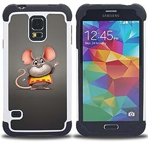 King Case - Cute Funny Fat Mouse - Cubierta de la caja protectora completa h???¡¯???€????€?????brido Body Armor Protecci???&rsq