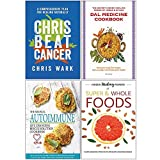 img - for Chris Beat Cancer [Hardcover], Dal Medicine Cookbook, The Medical Autoimmune Life Changing Rescue Solution Cookbook, Hidden Healing Powers of Super & Whole Foods 4 Books Collection Set book / textbook / text book