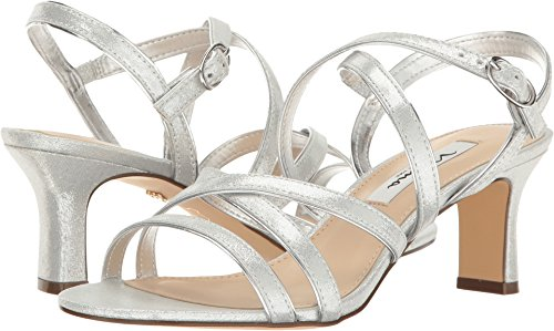 NINA Women's Genaya Dress Sandal, Fy- Silver, 6 M US