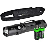 Fenix PD32 2016 Edition 900 Lumen CREE XP-L HI LED Tactical Flashlight with Two EdisonBright CR123A Lithium Batteries bundle