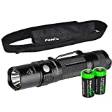 Fenix PD32 2016 Edition 900 Lumen CREE XP-L HI LED Tactical Flashlight with Two EdisonBright CR123A Lithium Batteries bundle