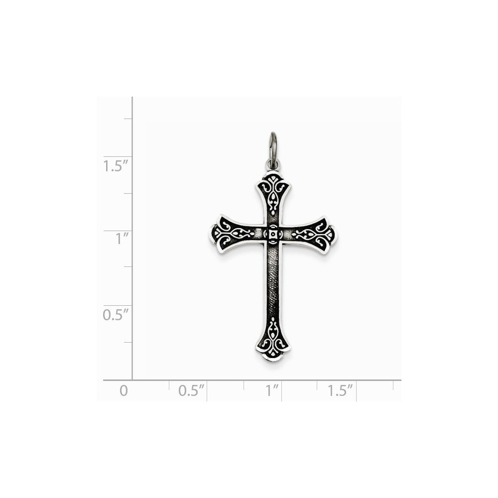 Diamond2Deal 925 Sterling Silver Antiqued Cross Pendant