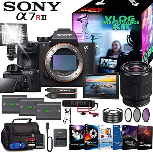 Sony Alpha a7R III Mirrorless Digital Camera with 28-70mm Lens Fully Loaded Vlogging Kit