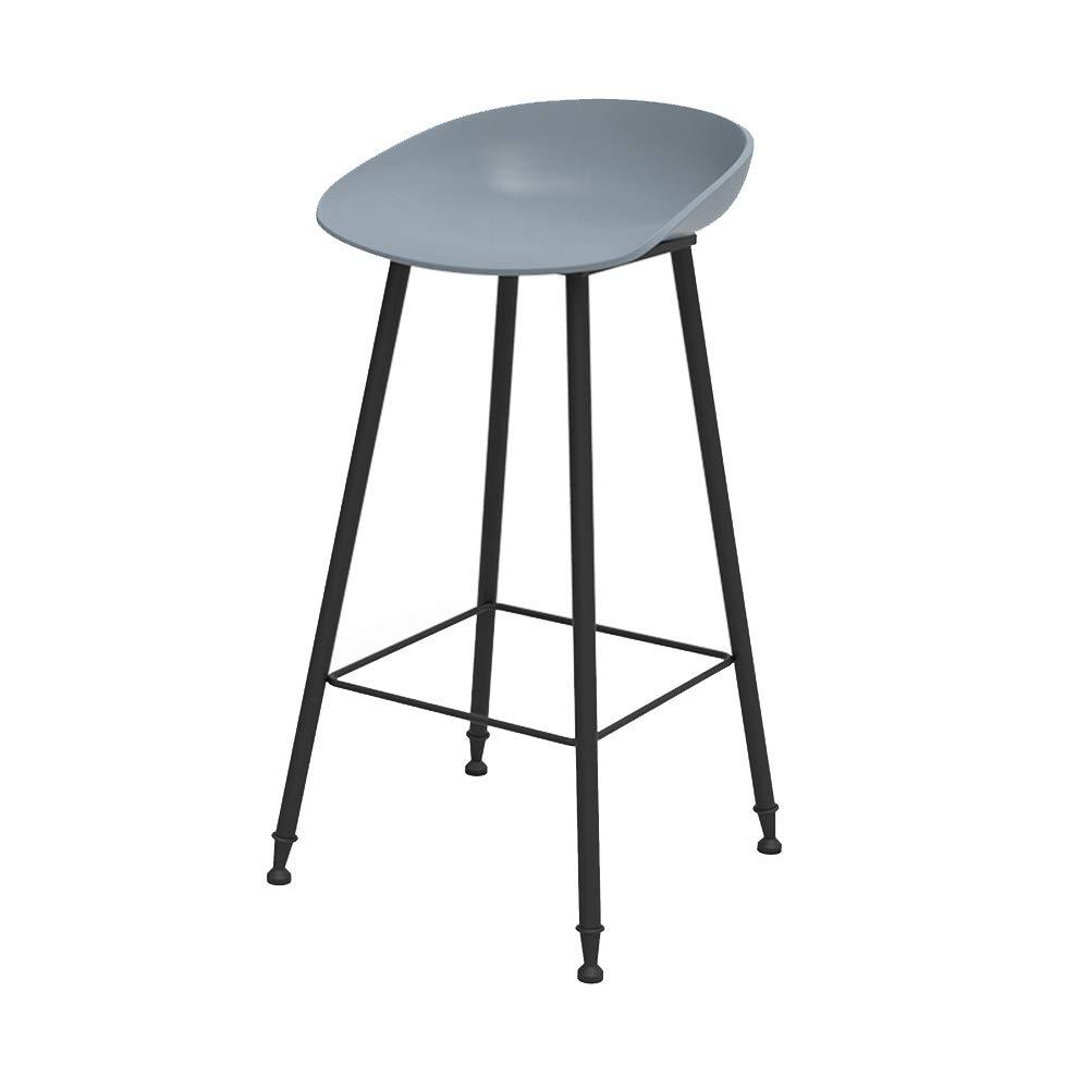 Cyan 75CM ZHAOYONGLI Stools Footstool Bar Chair Modern Simple Creative Bar Chair High Chair High Stool Bar Stool Creative Solid Durable Long Lasting (color   Cyan, Size   75CM)