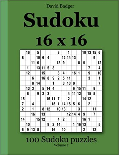 graphic about 16 Square Sudoku Printable identified as Sudoku 16 x 16: 100 Sudoku puzzles Amount of money 2: .united kingdom