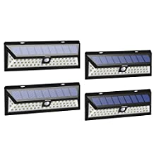 54 LED Solar Lights, Mpow Outdoor Waterproof Solar Power Night Lights with 120° Wide Angle Motion Sensor Solar Patio Lighting for Garden, Yard, Patio, Path Lighting 4 Pack