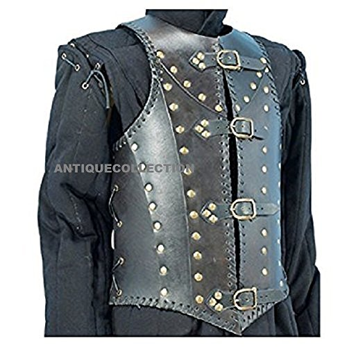 - ANTIQUECOLLECTION Armor Soldiers Leather Body Armour Black One Size