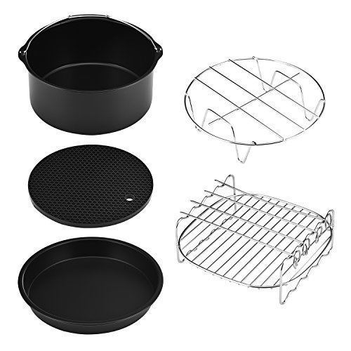 Ecrazybaby888 Air Fryer Accessories Kits (Set of 5), Fit Gowise Philips...