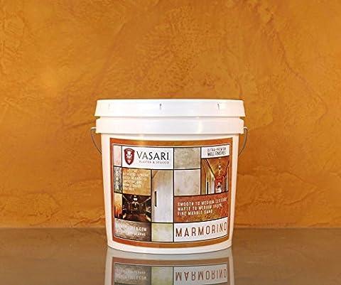 Marmorino 2 Gallons WET MIX Vasari Natural Lime Venetian Plaster Wall Finish the Best Paint (Venetian Plaster Color)