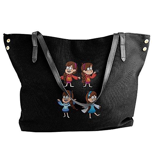 Mabel Sweater Costume (Anime Gravity Falls Mabel Pines Womens Canvas Handle Single Shoulder Bag/Handbag)