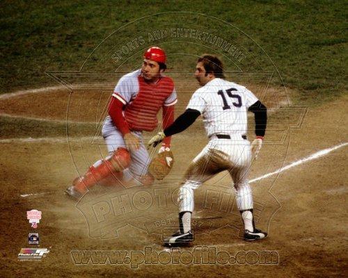(Johnny Bench Thurman Munson 1976 World Series Action Photo 8x10 )