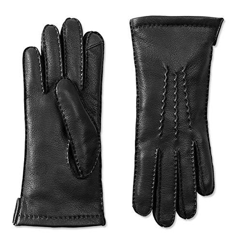 Orvis Women's Cashmere-lined Deerskin Driving Gloves, Black, Large