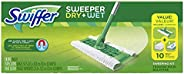 Swiffer Sweeper Cleaner Dry and Wet Mop Starter Kit for Cleaning Hardwood and Floors, Includes: 1 Mop, 7 Dry Cloths, 3 Wet C