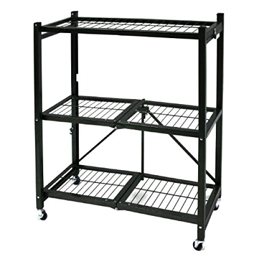 Portable Steel Storage Units : New iron shelving unit folding shelf storage rack