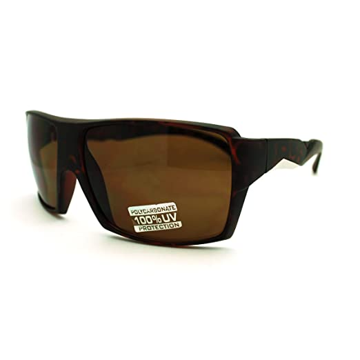 Amazoncom Mens Square Rectangular Frame Sunglasses Super Dark Lens