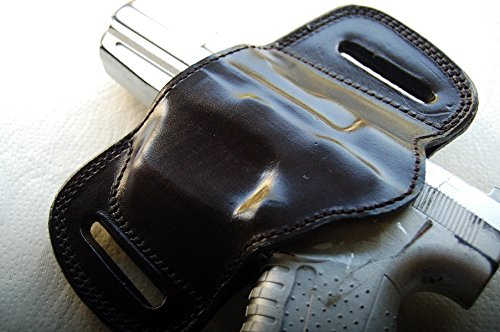 Amazon com : Cal38G19L Glock 19 Belt Slide Leather Holster