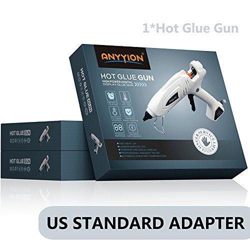 Hot Glue Gun, Anyyion 300W Industrial Glue Gun High Temperature Digital Display Hot Melt Glue Gun,White by Anyyion (Image #6)