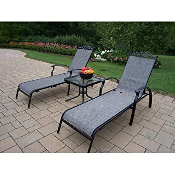 Amazon.com: Oakland Living Cascade Sling chaise longue Set ...