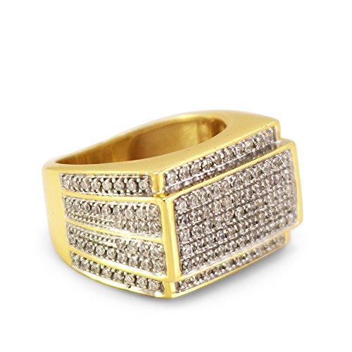 51cd3a60a9ca 50% de descuento Lilu Jewels - Anillo de compromiso con circonita cúbica de  corte redondo