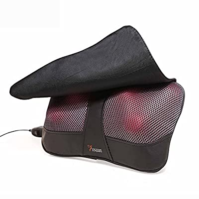 Shiatsu Neck Massage Pillow By VIKTOR JURGEN Shiatsu Kneading Massager with Heat,Relax, Sooth and Relieve Neck, Shoulder and Back Pain,Foot Massager