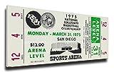NCAA UCLA Bruins 1975 Basketball Finals Mega Ticket