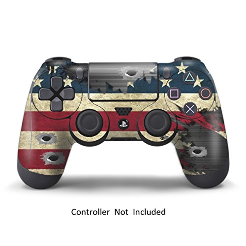 PS4 Controller Designer Skin for Sony PlayStation 4 DualShock Wireless Controller - Battle Torn Stripes