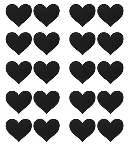 Ritual Burlesque Festival 10 Pack Disposable Heart Adhesive