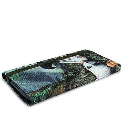 Stilbag Funda MIKA para LG X power - Diseño: Schwarze Katze Broken Dream