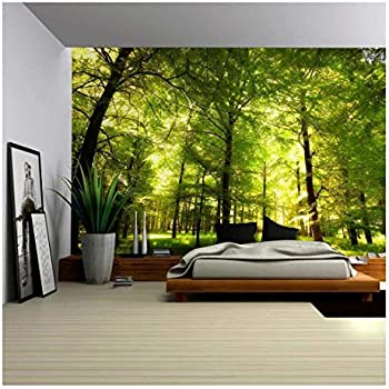 amazon com wall26 crowded forest mural wall mural, removablewall26 crowded forest mural wall mural, removable sticker, home decor 100x144