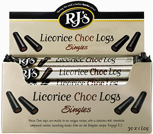 RJ's Licorice Logs, Chocolate, 1.4 Ounce (Pack of 30)