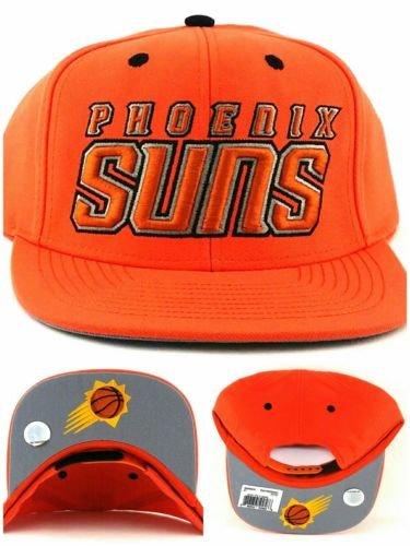 Phoenix Suns Adidas PHX NBA Team Preferred New Orange Wordmark Snapback Era Hat - Hat Phx Suns