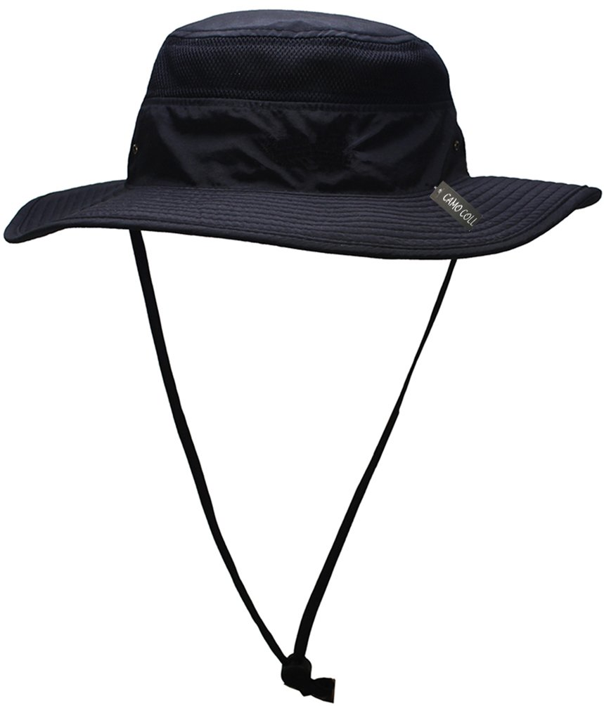 da2cf076 Amazon.com: Camo Coll Outdoor Sun Cap Camouflage Bucket Mesh Boonie Hat  (Black, One Size): Sports & Outdoors