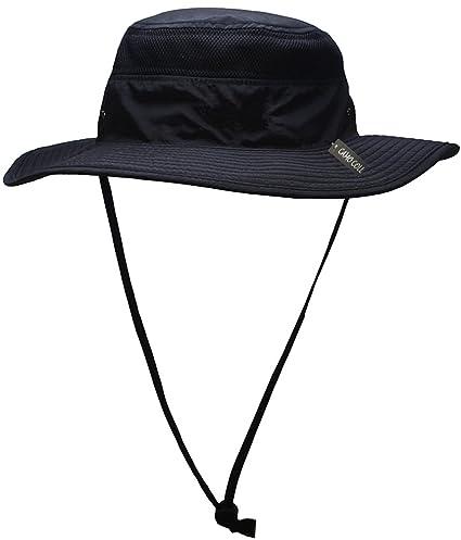 d0f1ec71324 Camo Coll Outdoor Sun Cap Camouflage Bucket Mesh Boonie Hat (Black ...