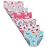 Baby Soft Cotton Panties Little Girls'Briefs Toddler Underwear (Pack of 6) 5/6years Mixed Colour