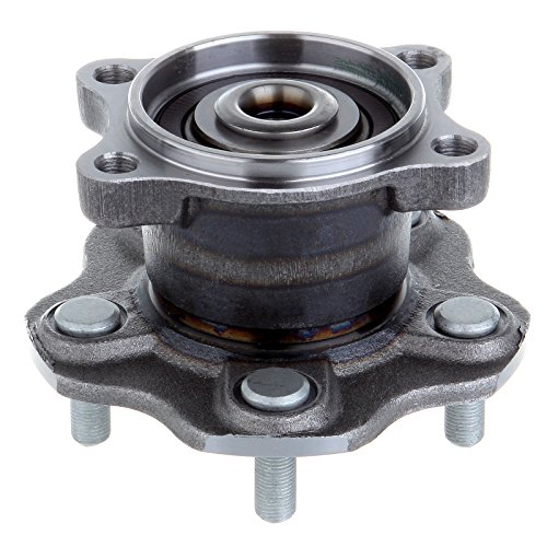 (ECCPP Wheel Hub and Bearing Assembly Rear 512201 fit 2002-2006 Nissan Altima Quest Maxima Replacement for 5 Lugs Wheel Hub with ABS 4 Bolt Flange)