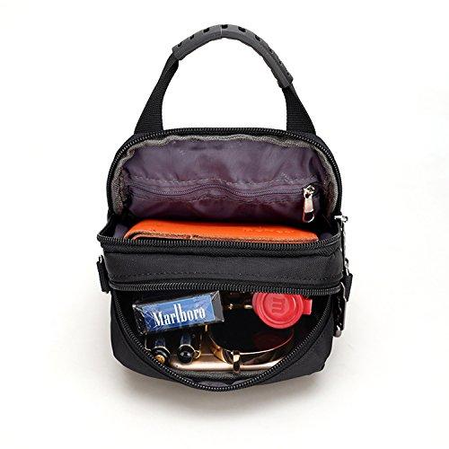 Outreo Bolso Bandolera Vintage Bolsas de Viaje Bolsos de Ocio Bolsa Hombre Casual Messenger Bag Bolsa de Deporte para Sport Bolsa de Agua Negro