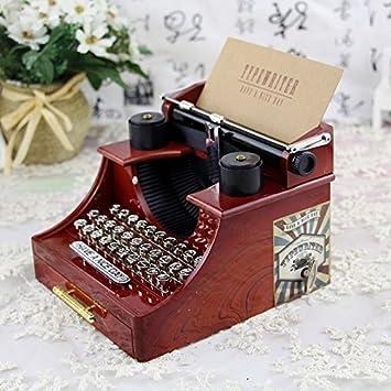 Yuloen Preciosa Decoración de Escritorio Joyero Retro Creativo de la Caja de música del diseño de
