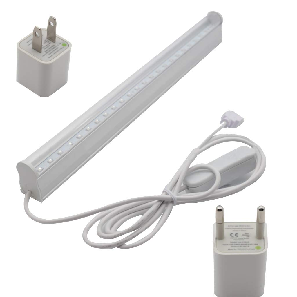 Uv LED Disinfection Lamp Sterilization Lamp Anti-Bacterial Rate 99/% Portable UV-C LED Sanitizer UV Steriliser Light Ultraviolet Germicidal Lamp for Car Household Toilet Pet Area