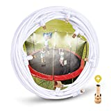 "HOMENOTE Misting Cooling System 26.3FT (8M) Misting Line + 8 Brass Mist Nozzles + a Metal Adapter(3/4"") Outdoor Mister Patio Garden Greenhouse Trampoline for Water Park"