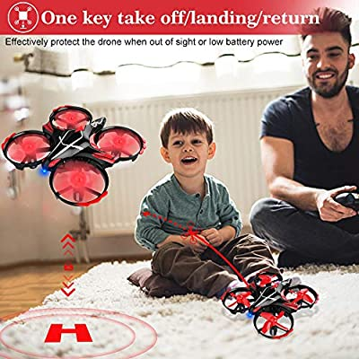 GEYUEYA Home Mini Drone RC Nano Quadcopter Best Drone for Kids and Beginners RC Helicopter Plane with Auto Hovering, 3D Flip, Headless Mode and Extra Batteries Toys for Boys and Girls: Sports & Outdoors