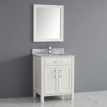 Bauhaus Bath Caledonia 28 in  Single Bathroom Vanity Set with Mirror. Bauhaus Bath Caledonia 28 in  Single Bathroom Vanity Set with