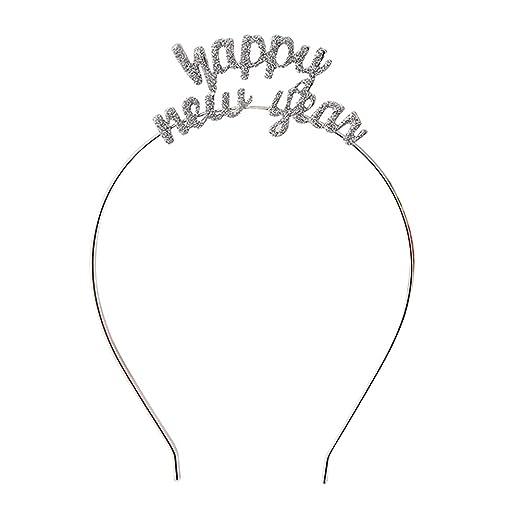 Minkissy 2 St/ücke 2021 Silvester Haarreif Stirnband Tiara Neujahr Fotorequisiten Haarband Stern Kopfschmuck Kopfbedeckung Weihnachten Party Haarschmuck Kost/üm Zubeh/ör Silvester Dekoration
