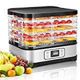Electric Food Dehydrator Machine, Godmorn Multi-Tier Food Preserver with Digital Timer & Temperature
