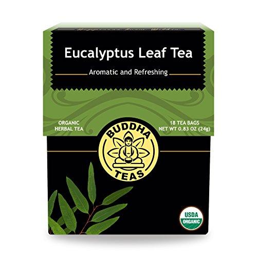 Organic Eucalyptus Tea - Kosher, Caffeine-Free, GMO-Free - 18 Bleach-Free Tea (Eucalyptus Leaf)