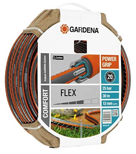 Gardena Comfort Flex Schlauch 9 x 9, 13 mm, 1/2 Zoll, 30 m ohne Systemteile, 18036-20