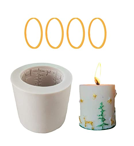 Homankit Cilindro vela de Navidad molde de silicona/moldes de jabón Moldes /,,